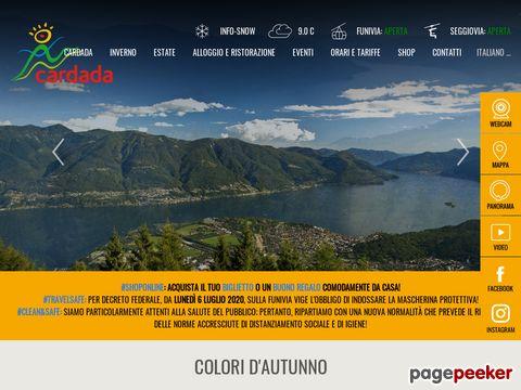 Cardada - Aussichtsberg und Skigebiet direkt in Locarno (Tessin)