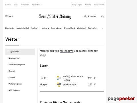 NZZ - Wetter