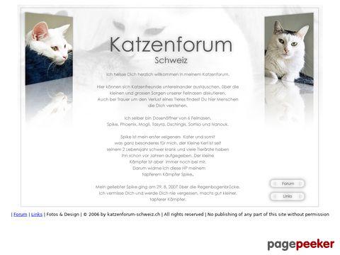 katzenforum schweiz : willkommen | bienvenue