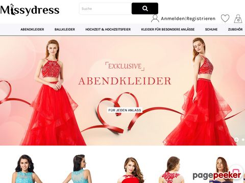 missydress.ch - Ballkleider, Abendkleider Schweiz Online - MissyDress