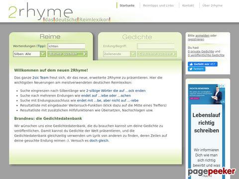 2Rhyme - Das deutsche Reimlexikon