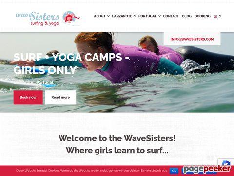 wavesisters.com - WaveSisters - Surfcamp mit Yoga-Kursen für Frauen