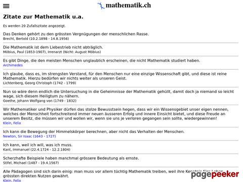 Zitate zur Mathematik