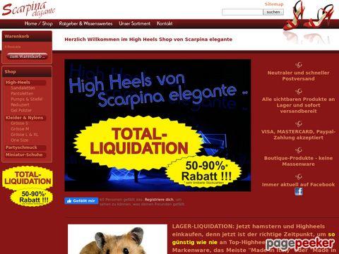 Scarpina elegante - High Heels und Damenschuhe der exklusiven Art