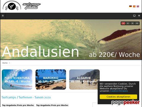 Surfcamp Online - In der Surfschule Wellenreiten lernen.