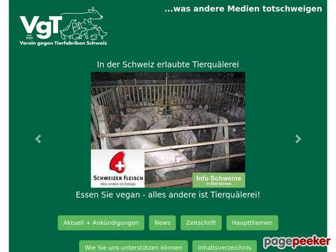 vgt.ch - Verein gegen Tierfabriken VgT
