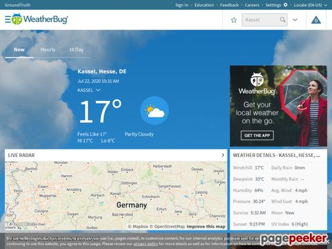 WeatherBug.com - Weather and forecast information