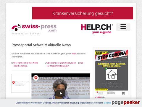 swiss-press.com - Ausgewählte Presseberichte - Medienmitteilungen