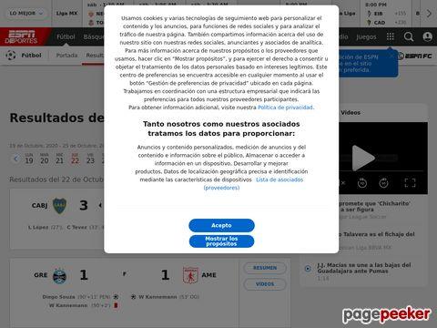 Copa Libertadores at ESPNdeportes.com