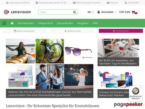 Kontaktlinsen bestellen bei Lensvision.ch, ihrem Schweizer Linsen Online Shop