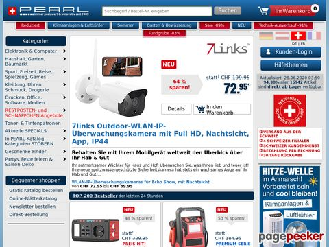 pearl.ch - Elektronikartikel und -Neuheiten aller Art!