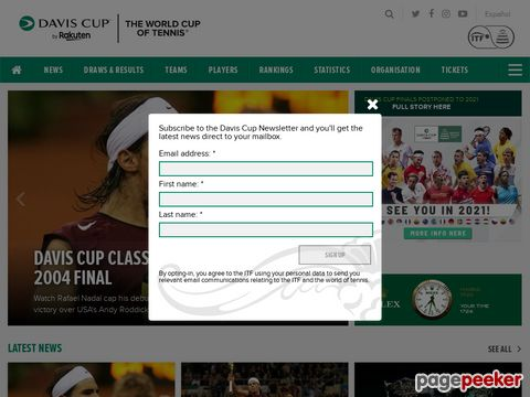 Davis Cup - The Official Website of the Davis Cup from the ITF