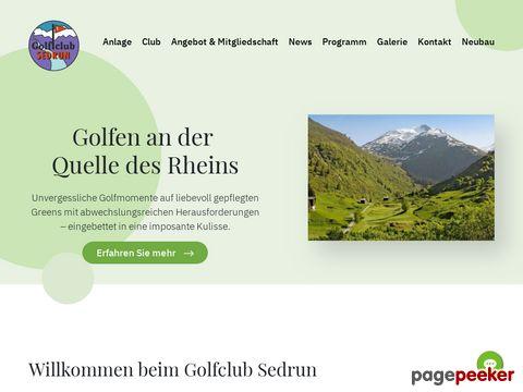 golfclub-sedrun.ch - Alpiner 9-Loch-Golfplatz  (Sedrun GR)