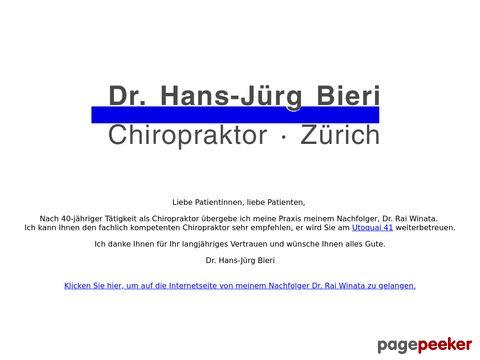 Dr. Hans-Jürg Bieri l Chiropraktik (Zürich)