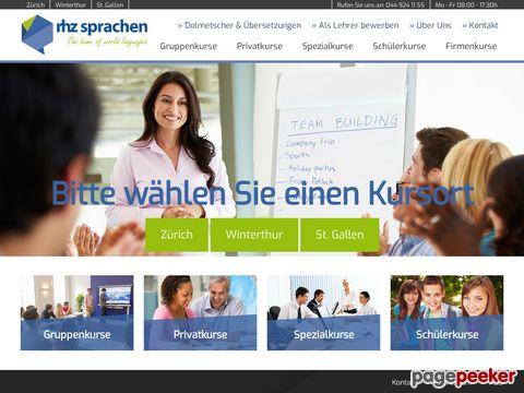 Reisehochschule Zürich, Abteilung Sprachen, RHZ Sprachen