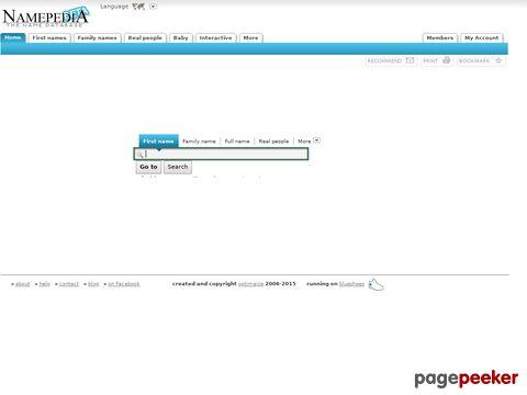Namepedia.org - Die Namensdatenbank