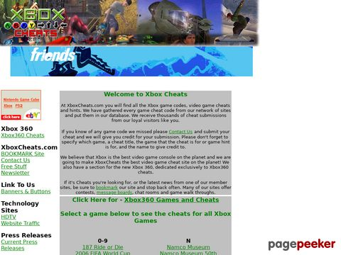 xboxcheats.com - Xbox Cheats