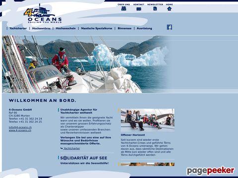 4oceans.ch - Hochseegeln Yachtcharter, Segeltörns, Ausbildung