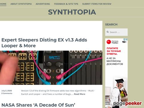Synthtopia - Portal devoted to electronic music