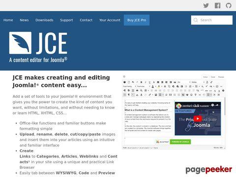 JCE - A wysiwyg editor for Joomla