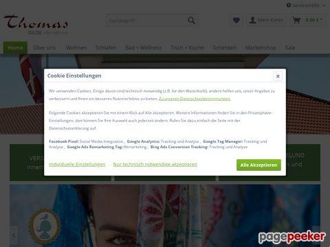 Thomas Living - Ihr Onlineshop für Bettwäsche, Wohndecken, Teppiche und mehr