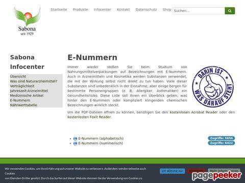 EG-Nummern für Lebensmittel-Zusatzstoffe, Konservierungsmittel