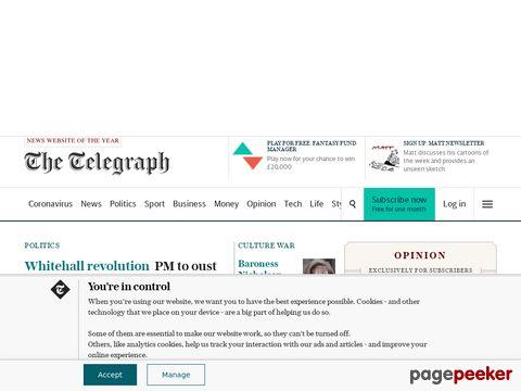 Telegraph newspaper online (United Kingdom)