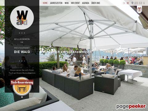 Restaurant Die Waid - Geniessen Sie eine top Aussicht auf Zürich und Umgebung!