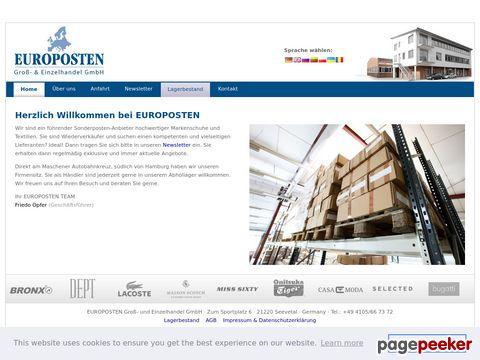 europosten.de - Onlineshop für kleine Mengen und Restbestände.
