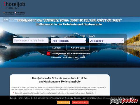 hoteljob-schweiz.de - Stellenmarkt für die Hotellerie und Gastronomie in der Schweiz