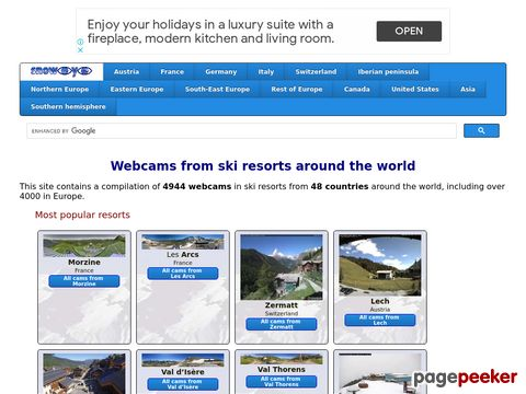snoweye.com - webcams from ski resorts around the world
