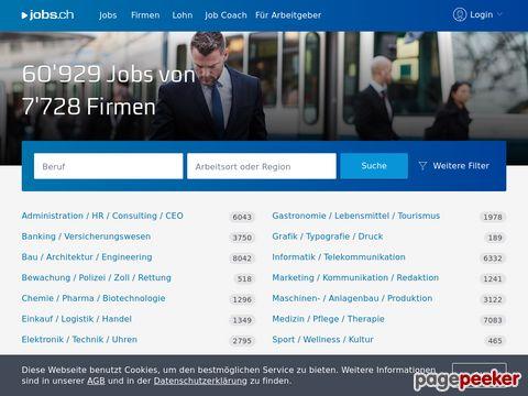 jobs.ch - Stellenmarkt mit riesen Auswahl an Jobs!