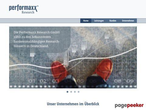 Performaxx Research - unabhängiges Research - kostenlos abrufbar !