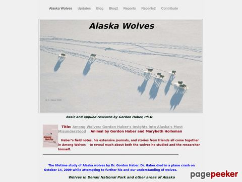 alaskawolves.org - First-hand information about wolves and wolf-prey systems (Alaska)