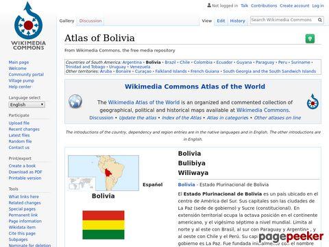 Atlas of Bolivia - Wikimedia Commons