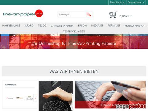 fine-art-papier.ch - Onlineshop für fine-art-papiere