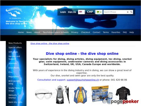 Tauchshoponline.ch - Der Tauchshop online