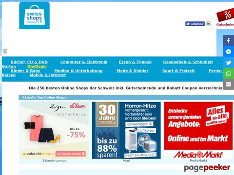SwissShops.ch - alle Schweizer Online Shops auf einer Plattform!