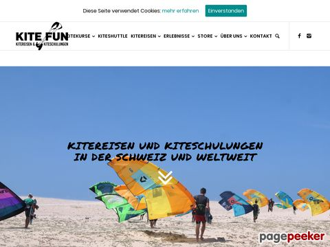 Kitefun.ch: Die #1 Kitesurf- (Kiteboarding) und Snowkiteschule in Europa, Schweiz