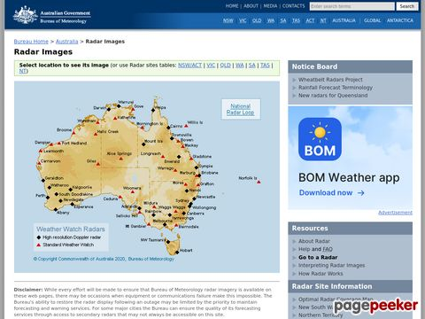 Australian Weather Watch Radar Network