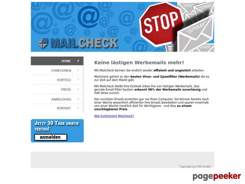 mailcheck.ch - antispam filter anti spam für email und exchange
