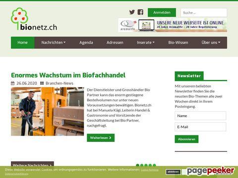 bionetz.ch - die Bio-Plattform der Schweiz