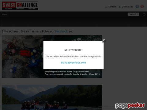 swisschallenge.ch - Canyoning, Rafting, Outdoor- und Adventure-Aktivitäten