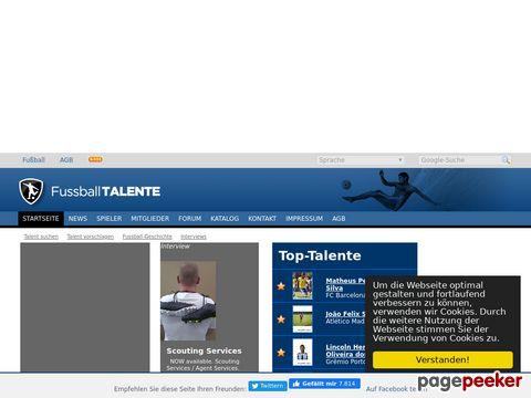 fussball-talente.com - Datenbank von weltweiten Fussballtalenten