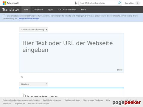 Windows Live Translator - Microsofts Online Übersetzungsdienst