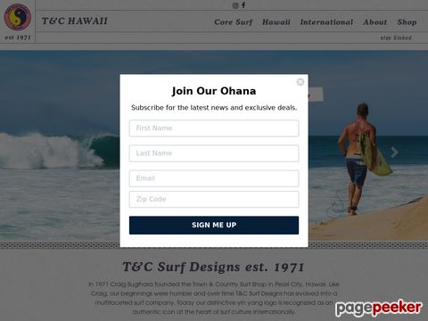 Town & Country Surf Designs - Hawaii