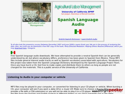 Learning Spanish Audio Files