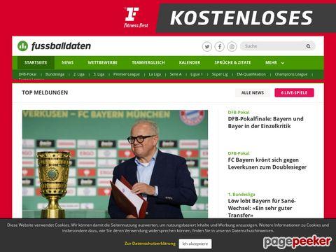 Fussballdaten - Die Fußball-Datenbank