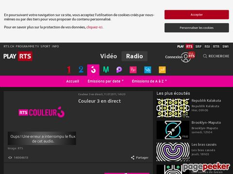 Couleur 3 en direct - Radio - Play RTS