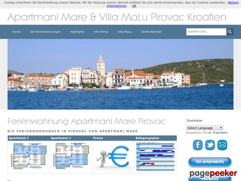 Apartments Croatia Ferienwohnungen Pirovac Kroatien Adria Urlaub & Meer